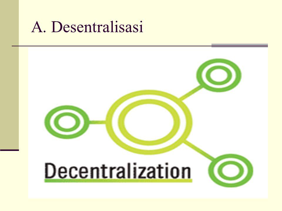 A. Desentralisasi