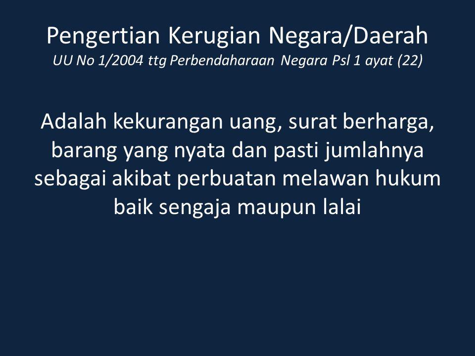 Kewenangan BPK Menetapkan Ganti Kerugian Negara/Daerah Terhadap Bendahara UU No.