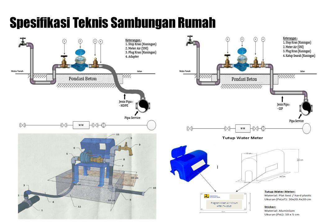 Spesifikasi Teknis Sambungan Rumah Program Hibah Air Minum APBN TA.2015