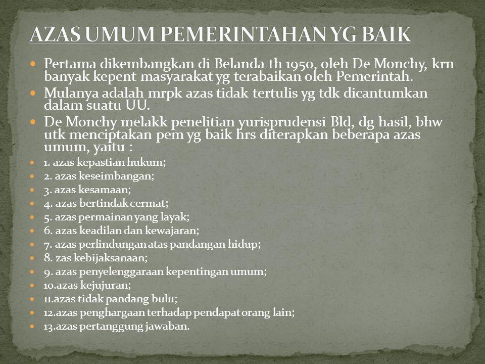 Prof.Prayudi Atmosudridjo AUPB dikategorikan dalam 2 golongan, yaitu : 1.