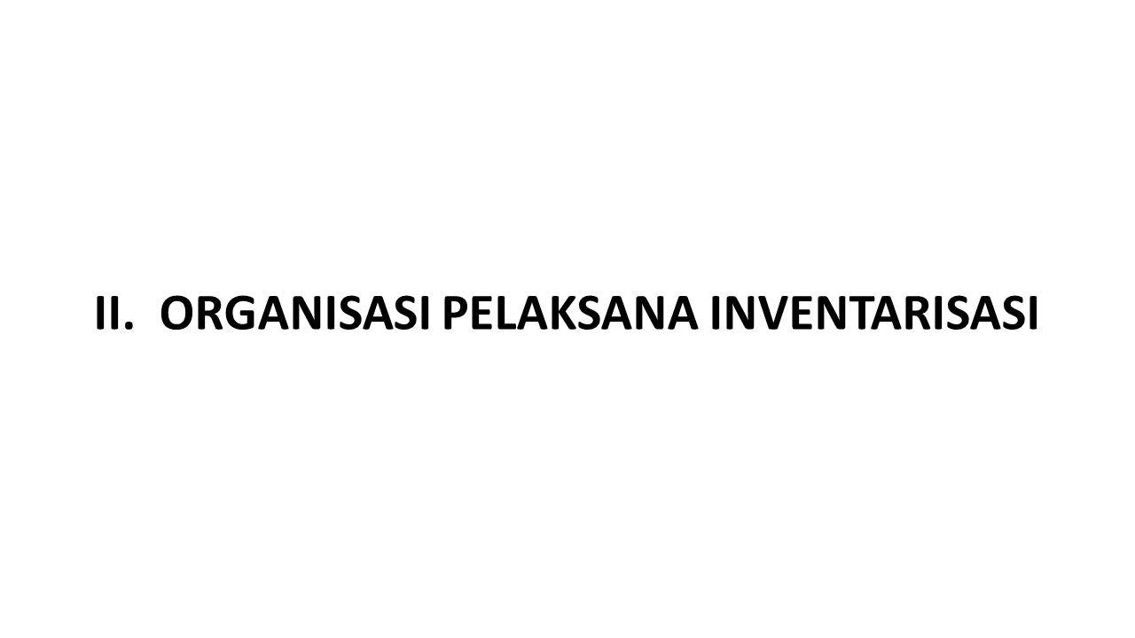 II. ORGANISASI PELAKSANA INVENTARISASI