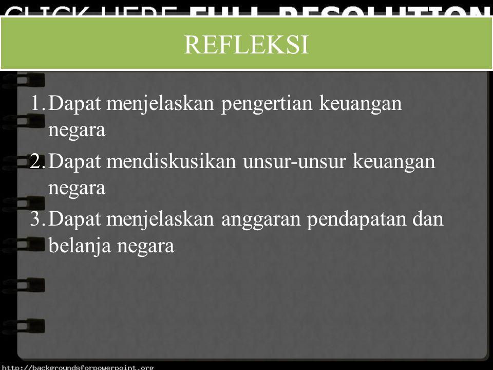 1.Dapat menjelaskan pengertian keuangan negara 2.Dapat mendiskusikan unsur-unsur keuangan negara 3.Dapat menjelaskan anggaran pendapatan dan belanja n