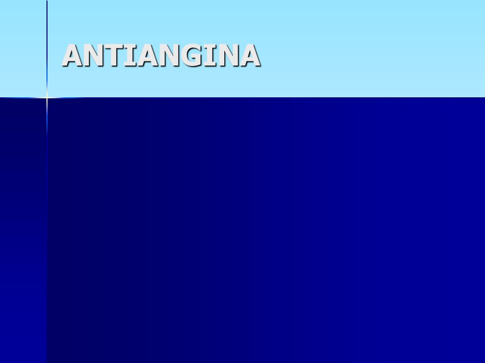 ANTIANGINA