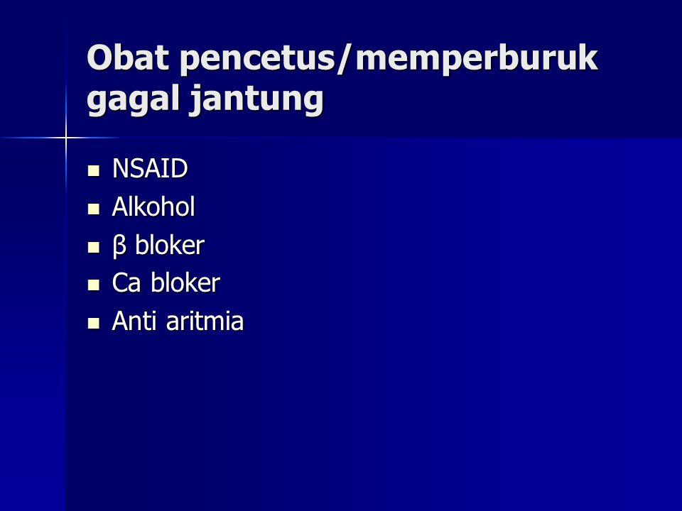 Sotalol Sotalol - terapi : menekan denyut jantung,menurunkan kebutuhan oksigen dan angka kematian mendadak akibat infark miokard - lebih efektif daripada kuinidin, prokainamid, imipramin, meksiletin, propafenon - ES : sindrom takikardi menyebabkan keamatian (3-4%) Bretelium Bretelium - diberikan secara parenteral, ekskresi lewat urin - ES : hipotensi postural Amiodaron : efek toksik tinggi Amiodaron : efek toksik tinggi Kelas III