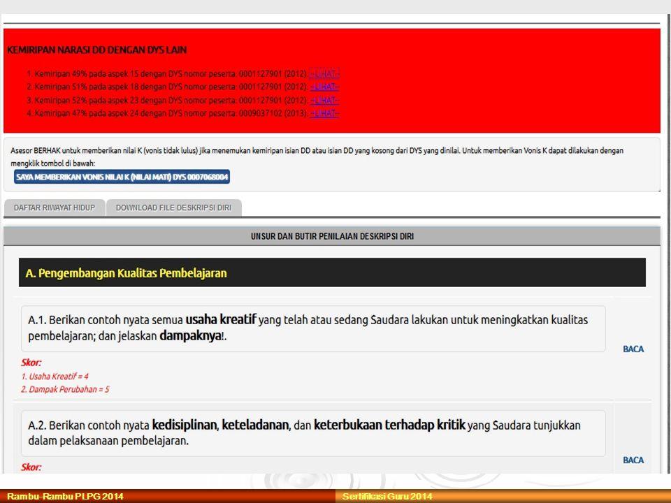 Rambu-Rambu PLPG 2014Sertifikasi Guru 2014
