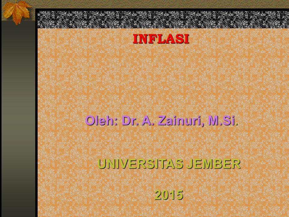 INFLASI Oleh: Dr. A. Zainuri, M.Si. UNIVERSITAS JEMBER 2015