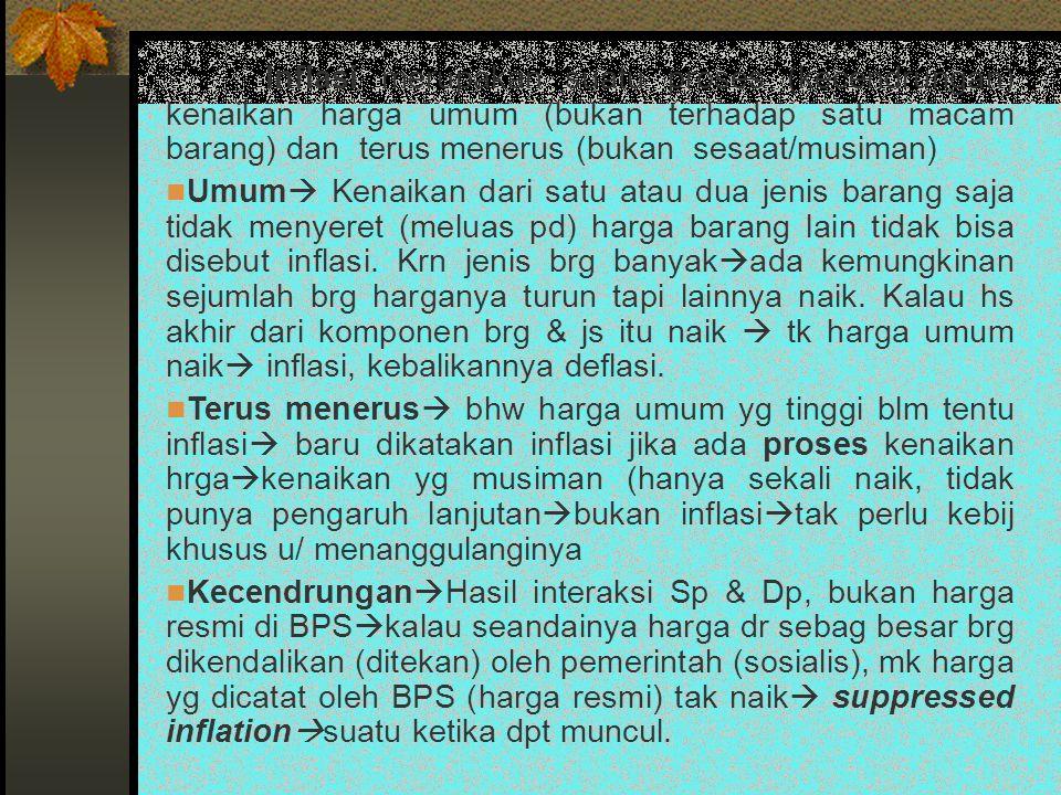 C.Teori Inflasi 1. Teori Kuantitas a.