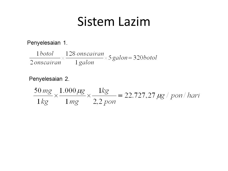Aligasi Pertukaran Contoh: 1.Pada proporsi berapa salep benzokain 20% harus dicampur dengan basis salep untuk menghasilkan salep benzokain 2,5%.