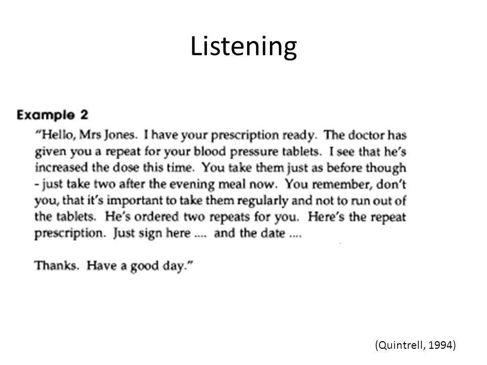 Listening (Quintrell, 1994)