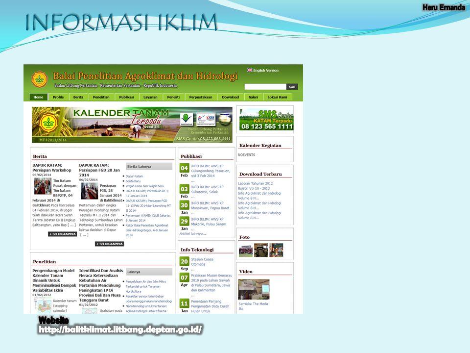 INFORMASI IKLIM