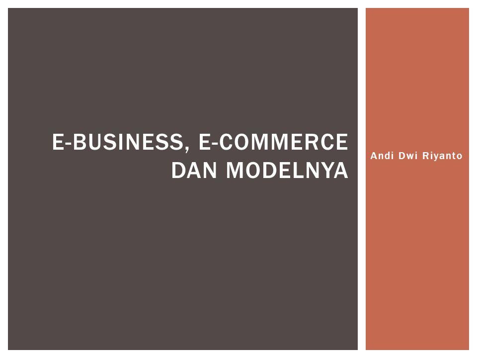 A.Definisi E-Business B.Definisi E-Commerce C.Hubungan E-Business dan E-Commerce D.Perbedaan E-Business dan E-Commerce E.Transformasi dari E-Commerce menuju E-Business F.Kegiatan E-Commerce G.Kegiatan E-Business H.Framework E-Commerce I.Model E-Business SUB POKOK BAHASAN