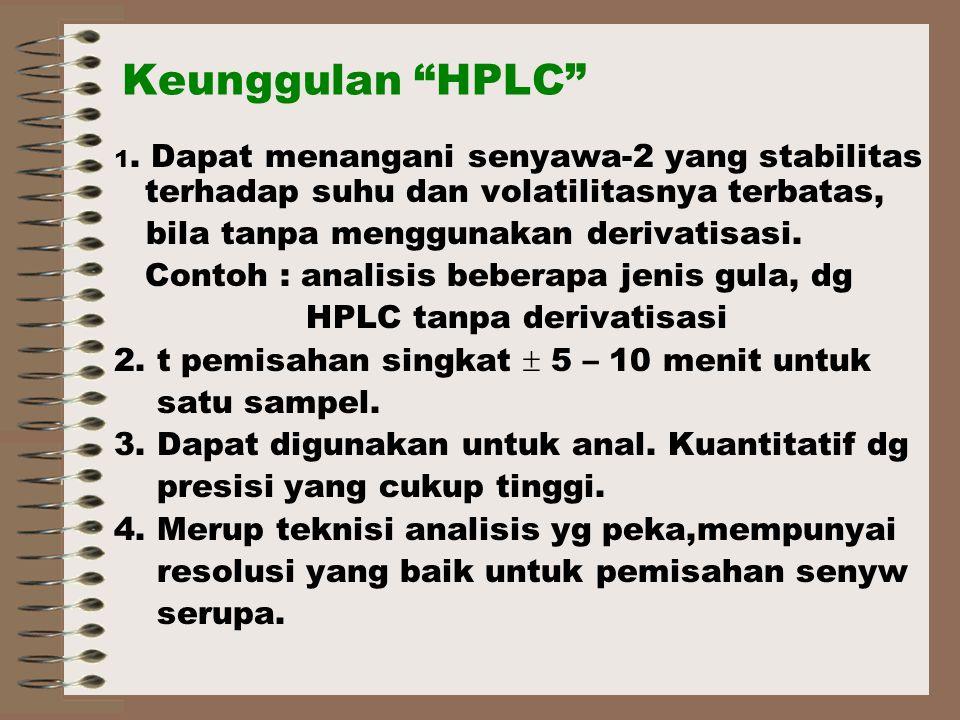 Keunggulan HPLC 1.
