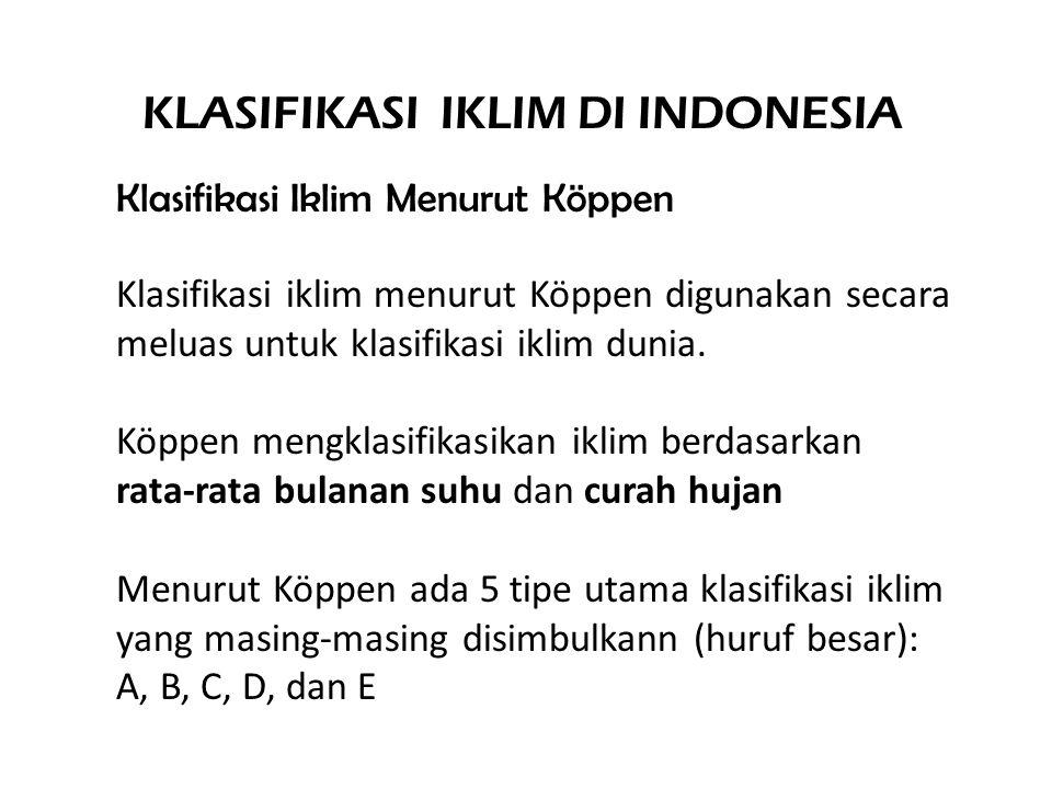 Klasifikasi iklim menurut Köppen digunakan secara meluas untuk klasifikasi iklim dunia.