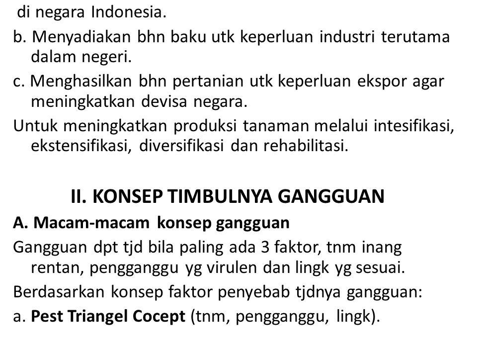 di negara Indonesia. b. Menyadiakan bhn baku utk keperluan industri terutama dalam negeri. c. Menghasilkan bhn pertanian utk keperluan ekspor agar men