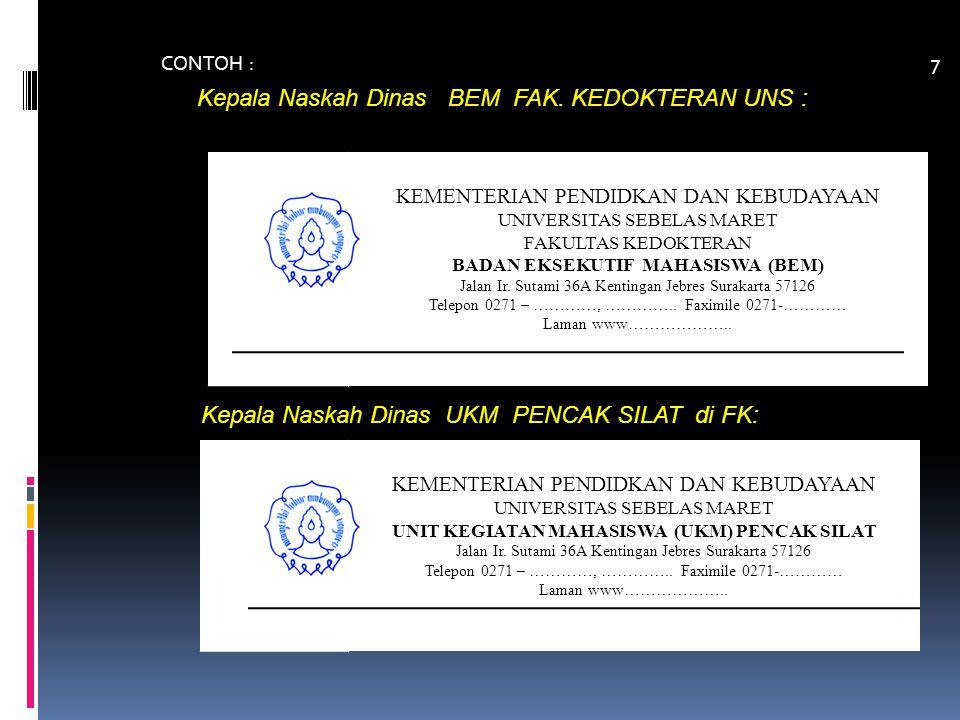 Kode Unit Organisasi / Unit Kerja di lingkungan Universitas Sebelas Maret A.