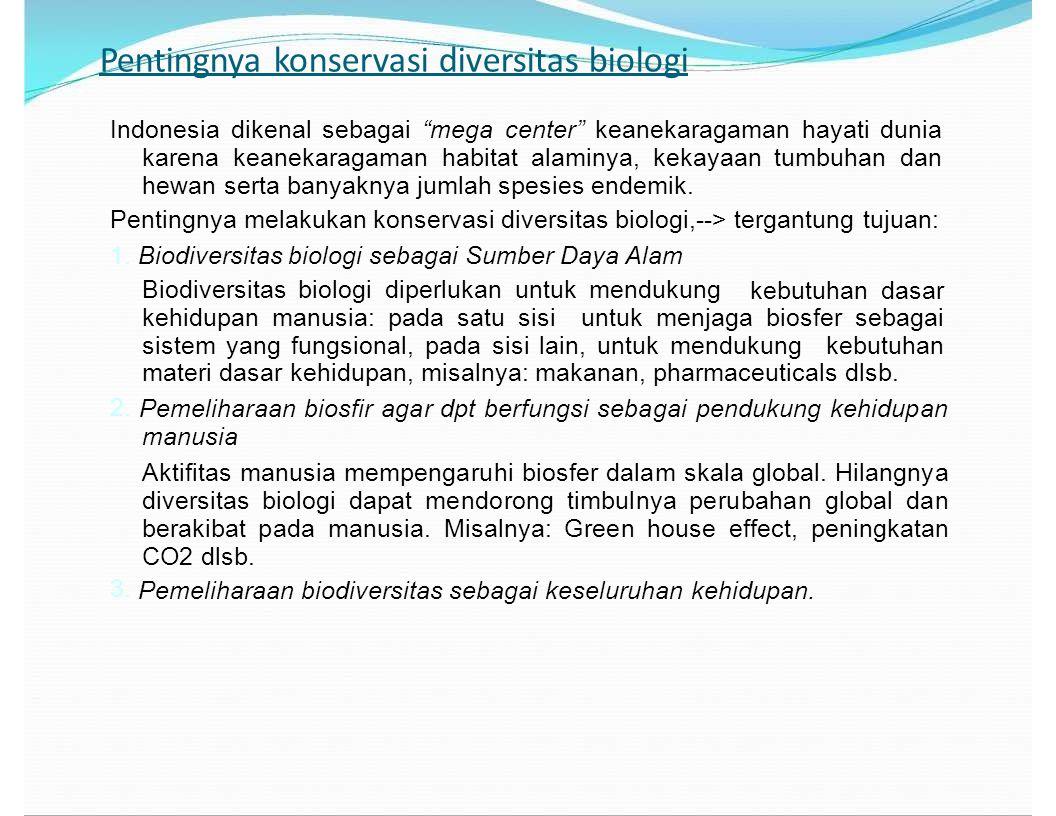 Manfaat Keanekaragaman Hayati di Indonesia Keanekaragaman hayati merupakan anugerah terbesar bagi umat manusia.