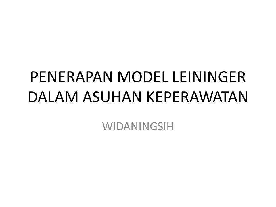 PENERAPAN MODEL LEININGER DALAM ASUHAN KEPERAWATAN WIDANINGSIH