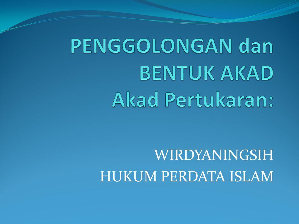 WIRDYANINGSIH HUKUM PERDATA ISLAM