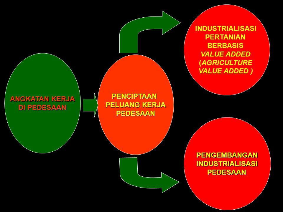 ANGKATAN KERJA DI PEDESAAN INDUSTRIALISASI PERTANIAN BERBASIS VALUE ADDED (AGRICULTURE VALUE ADDED ) PENGEMBANGANINDUSTRIALISASI PEDESAAN PEDESAAN PEN