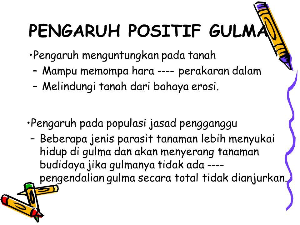 Klasifikasi gulma 1.Berdasarkan daur hidup : –Gulma semusim, ex.