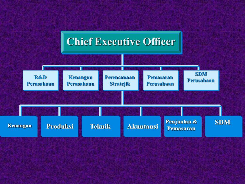 ProduksiKeuanganTeknikAkuntansi Penjualan & Pemasaran SDM Chief Executive Officer Keuangan Perusahaan R&D Perusahaan Pemasaran Perusahaan SDM Perusaha