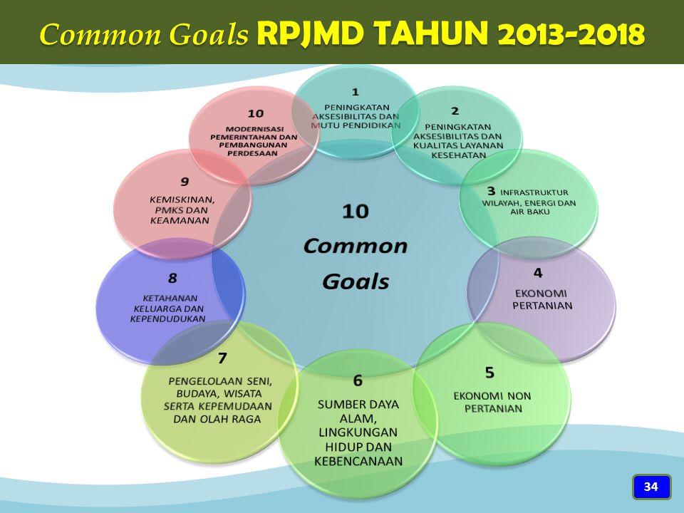 Common Goals RPJMD TAHUN 2013-2018 34