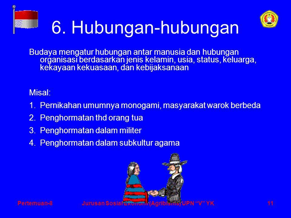 11Pertemuan-8Jurusan Sosial Ekonomi (Agribisnis) UPN V YK 6.