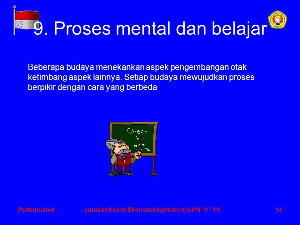 14Pertemuan-8Jurusan Sosial Ekonomi (Agribisnis) UPN V YK 9.