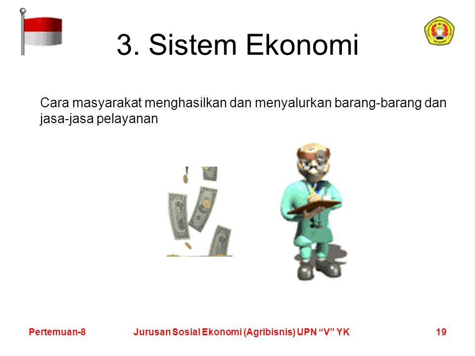 19Pertemuan-8Jurusan Sosial Ekonomi (Agribisnis) UPN V YK 3.