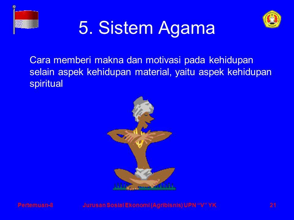 21Pertemuan-8Jurusan Sosial Ekonomi (Agribisnis) UPN V YK 5.