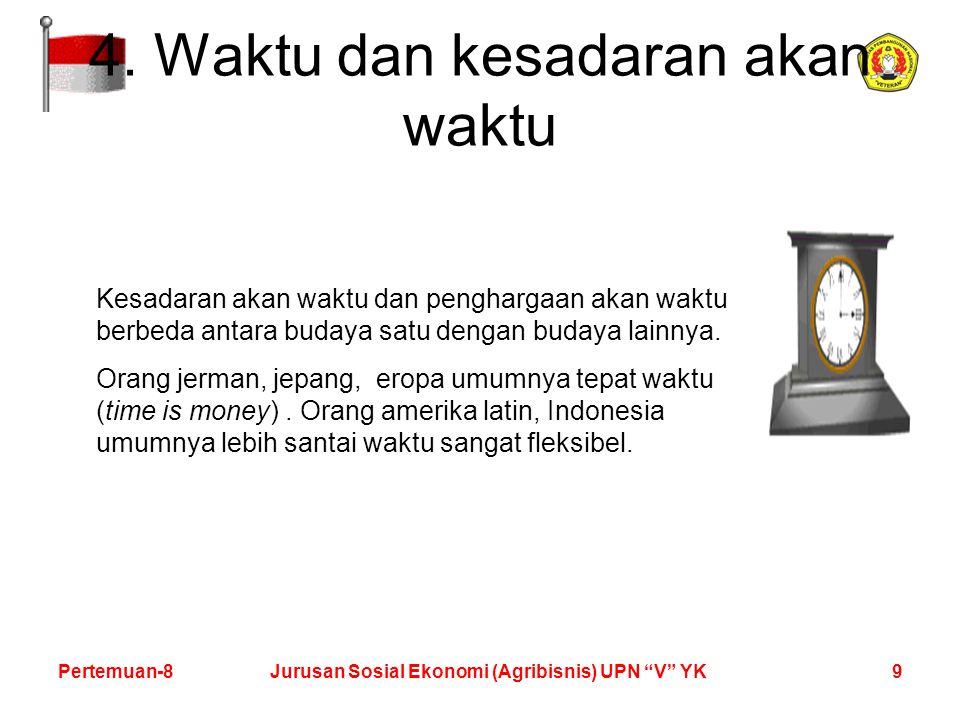 9Pertemuan-8Jurusan Sosial Ekonomi (Agribisnis) UPN V YK 4.