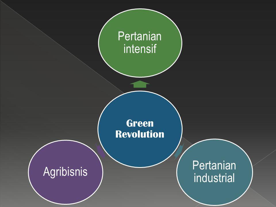 Green Revolution Pertanian intensif Pertanian industrial Agribisnis