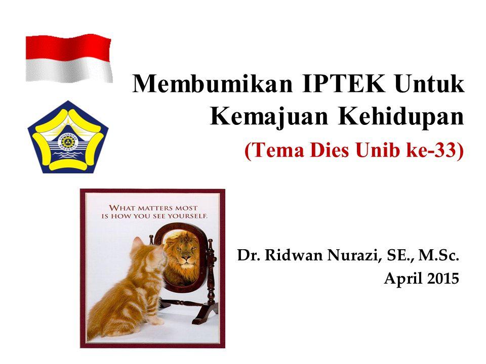 u Iptek lahir dari penelitian (umumnya dilakukan oleh Dosen dan Tenaga Peneliti Profesional: baik Pemerintah atau Dudi).