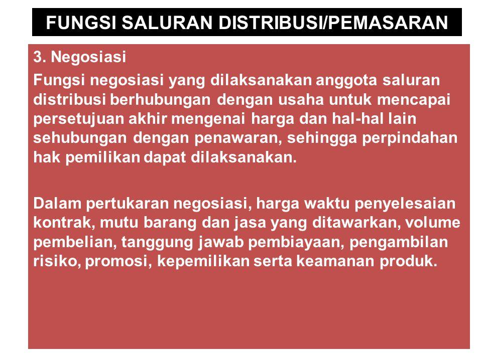 FUNGSI SALURAN DISTRIBUSI/PEMASARAN 3.