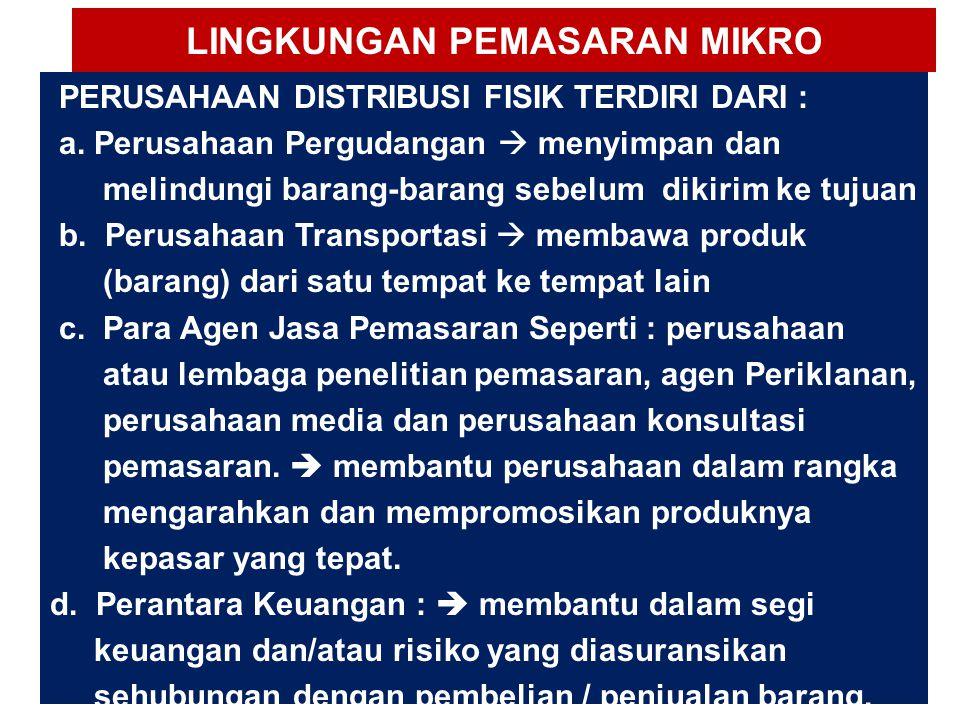 LINGKUNGAN PEMASARAN MIKRO 4.
