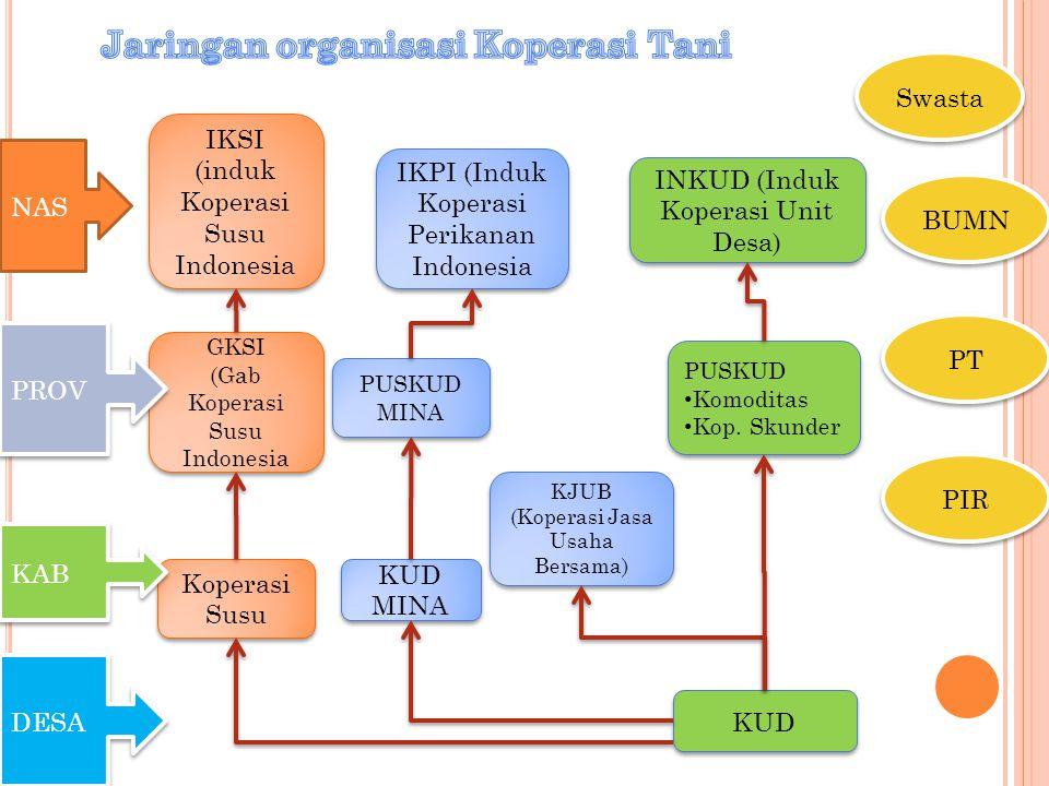 GKSI (Gab Koperasi Susu Indonesia GKSI (Gab Koperasi Susu Indonesia IKPI (Induk Koperasi Perikanan Indonesia INKUD (Induk Koperasi Unit Desa) Koperasi
