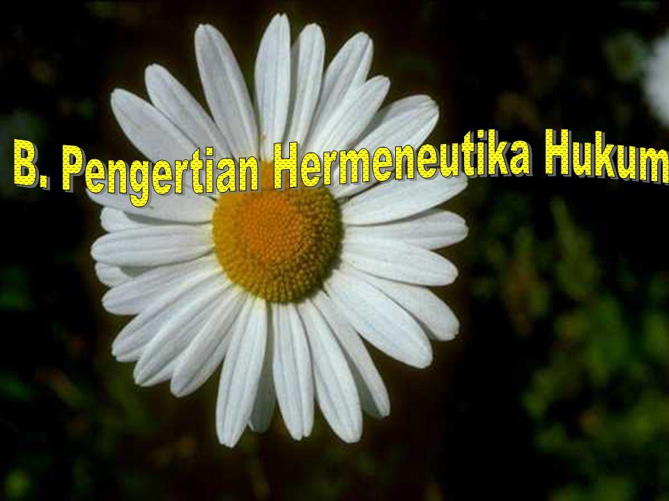 INGGRIS Hermeneutic Hermeunetics Kata sifat Kata benda 1.Ilmu penafsiran 2.Ilmu mengetahui maksud 3.Penafsiran khusus YUNANI Hermeneia Hermeneuo Hermeneuein Penafsiran Peralihan dari gelap ke terang