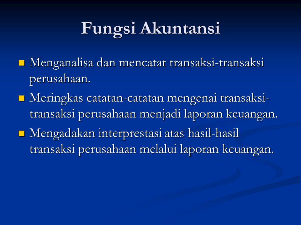 Bidang-Bidang dalam Akuntansi 1.Akuntansi Umum / Akuntansi Keuangan.
