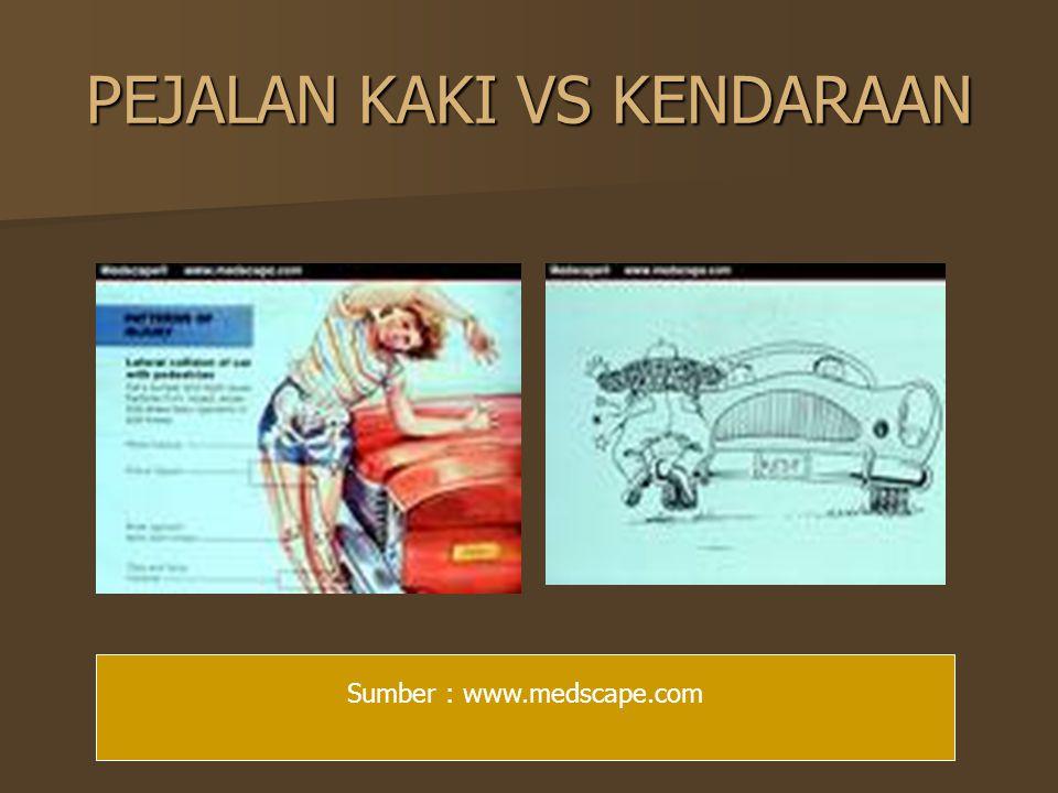 PEJALAN KAKI VS KENDARAAN Sumber : www.medscape.com