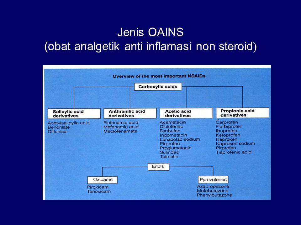 Jenis OAINS (obat analgetik anti inflamasi non steroid )