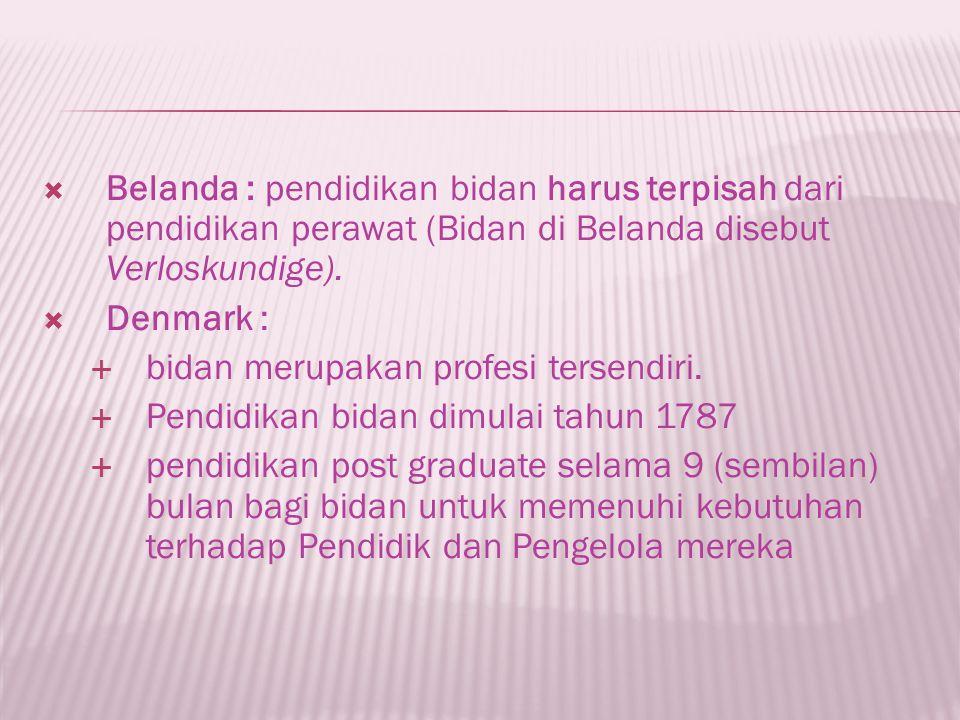  Profesi kebidanan adalah profesi yang berfokus pada promosi kesehatan perempuan.