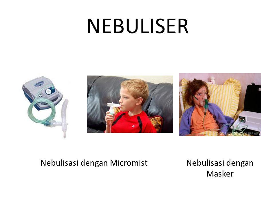 NEBULISER Nebulisasi dengan MicromistNebulisasi dengan Masker