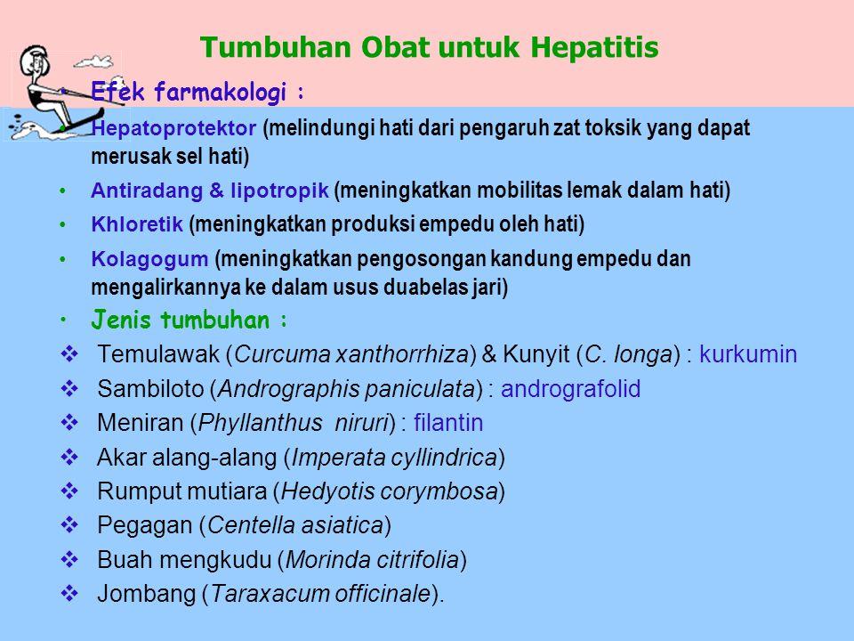 Efek farmakologi : Hepatoprotektor (melindungi hati dari pengaruh zat toksik yang dapat merusak sel hati) Antiradang & lipotropik (meningkatkan mobili