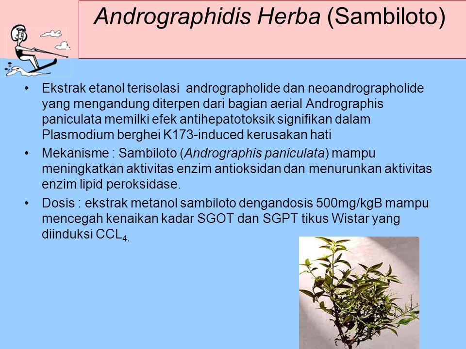 Andrographidis Herba (Sambiloto) Ekstrak etanol terisolasi andrographolide dan neoandrographolide yang mengandung diterpen dari bagian aerial Androgra