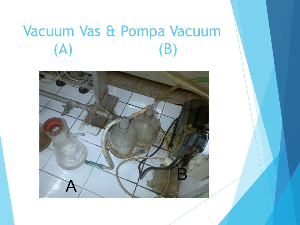 Vacuum Vas & Pompa Vacuum (A)(B) A B