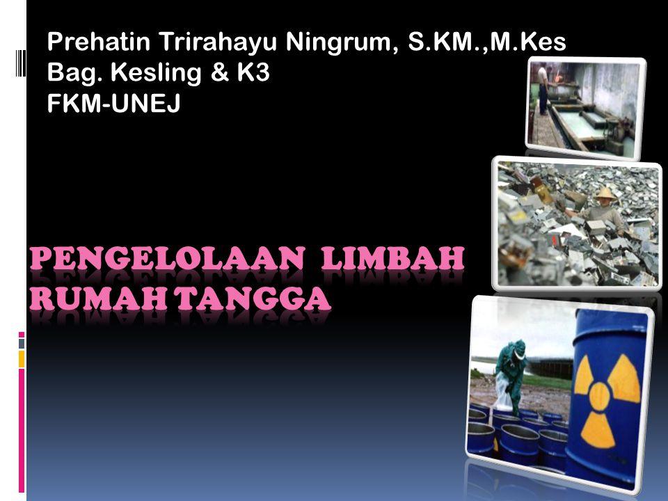 Prehatin Trirahayu Ningrum, S.KM.,M.Kes Bag. Kesling & K3 FKM-UNEJ