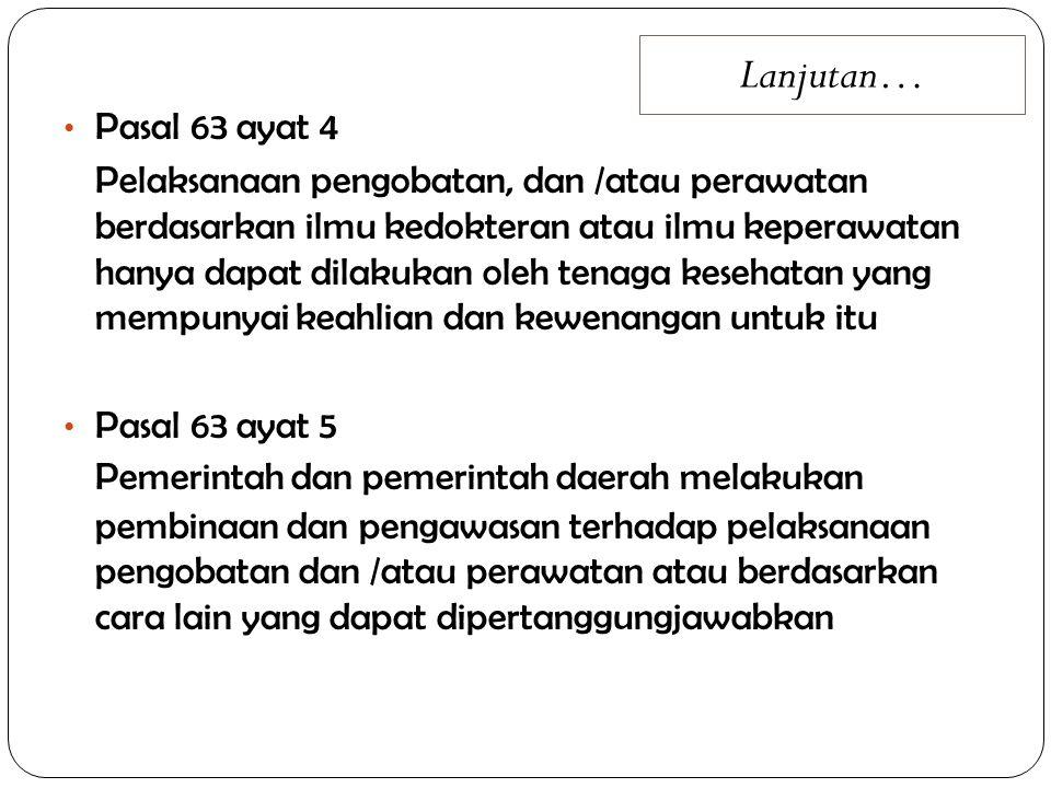 UU NO.44 THN 2009 TENTANG RS Pasal 3 Pengaturan penyelenggaraan Rumah Sakit bertujuan: a.