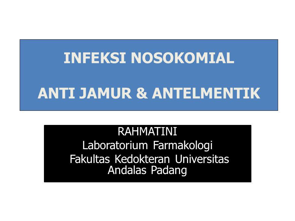RAHMATINI Laboratorium Farmakologi Fakultas Kedokteran Universitas Andalas Padang INFEKSI NOSOKOMIAL ANTI JAMUR & ANTELMENTIK