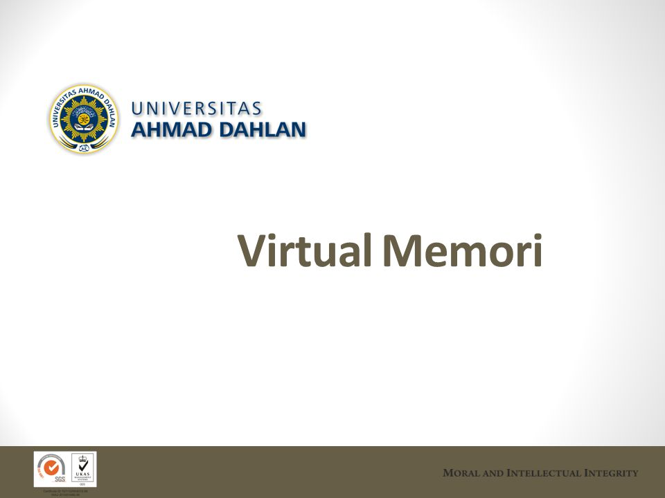 Latar Belakang Manajemen memori: Alokasi space memori fisik kepada program yang diekesekusi (proses).