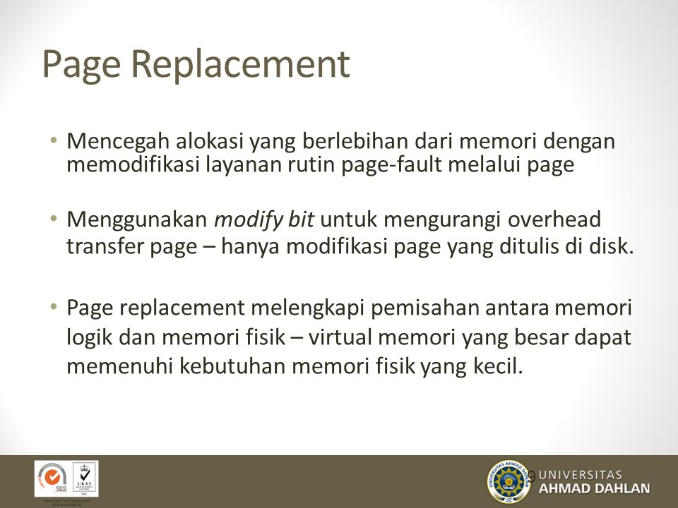 Page Replacement 30
